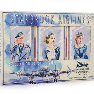 Starbrook Airlines gift pack van 6 tabletten chocolade