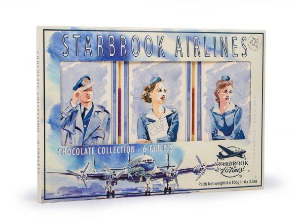 Starbrook Airlines gift pack van 6 tabletten chocolade