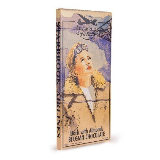 Verpakking pure chocolade met amandel