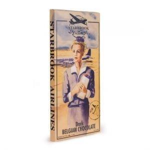 Verpakking van de giant tablet pure chocolade van Starbrook Airlines