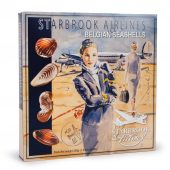 Agent de bord emballant des fruits de mer au chocolat starbrook airlines